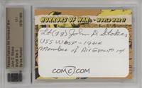 WWII - John D. Stokes [CutSignature] #/1