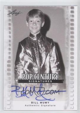 2011 Leaf Pop Century - [Base] #BA-BM1 - Bill Mumy