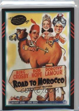 2011 Panini Americana - Movie Posters Materials Quad #53 - Bing Crosby, Dorothy Lamour, Anthony Quinn, Bob Hope /225