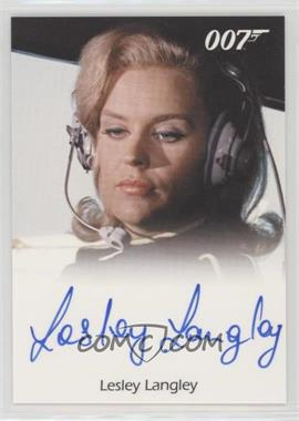 2011 Rittenhouse James Bond: Mission Logs - Full-Bleed Autographs #LELA - Lesley Langley as Flying Circus Pilot