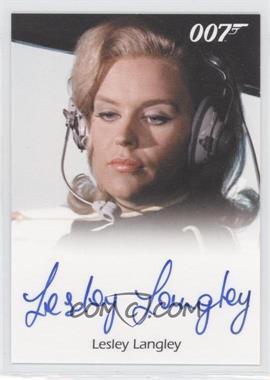 2011 Rittenhouse James Bond: Mission Logs - Full-Bleed Autographs #LELA - Lesley Langley as Flying Circus Pilot