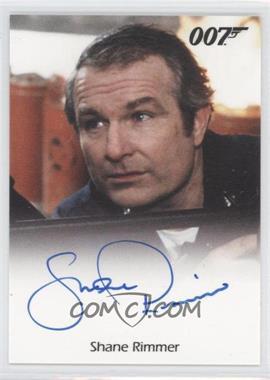 2011 Rittenhouse James Bond: Mission Logs - Full-Bleed Autographs #SHRI - Shane Rimmer as Commander Carter