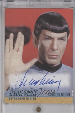 2011 Rittenhouse Star Trek: The Remastered Original Series - Single Autograph #LENI - Leonard Nimoy as Spock