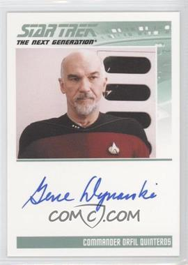 2011 Rittenhouse The Complete Star Trek: The Next Generation Series 1 - Autographs #GEDY - Gene Dynarski