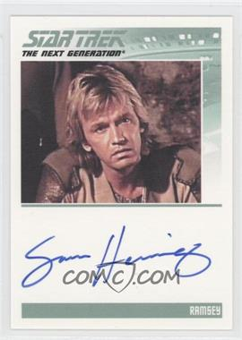 2011 Rittenhouse The Complete Star Trek: The Next Generation Series 1 - Autographs #SAHE - Sam Hennings