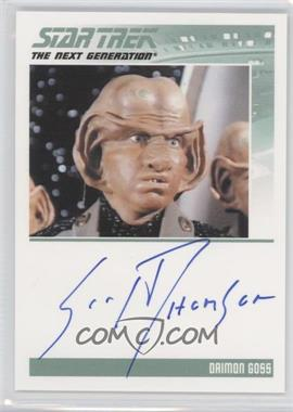 2011 Rittenhouse The Complete Star Trek: The Next Generation Series 1 - Autographs #SCTH - Scott Thomson