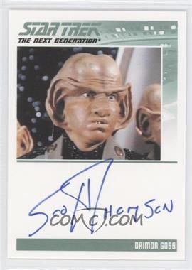 2011 Rittenhouse The Complete Star Trek: The Next Generation Series 1 - Autographs #SCTH - Scott Thomson