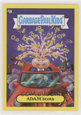 2011 Topps Garbage Pail Kids Flashback Series 2 - Adam Mania - Yellow #4 - Adam Bomb