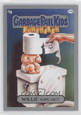 2011 Topps Garbage Pail Kids Flashback Series 3 - [Base] - Silver #24a - Willie Wipe-out