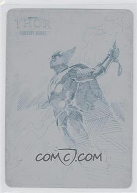 2011 Upper Deck Marvel Thor: The Movie - Concept Series - Printing Plate Cyan #C11 - [Missing] /1