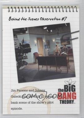 2012 Cryptozoic The Big Bang Theory Seasons 1 & 2 - Behind the Scenes Observations #C07 - Behind the Scenes Observation #7