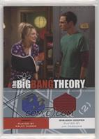 Kaley Cuoco as Penny, Jim Parsons as Sheldon Cooper