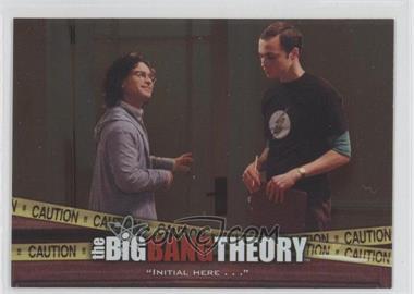 "2012 Cryptozoic The Big Bang Theory Seasons 3 & 4 - The Elevator #E-03 - ""Initial Here . . ."""
