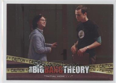 "2012 Cryptozoic The Big Bang Theory Seasons 3 & 4 - The Elevator #E-03 - ""Initial Here . . ."""