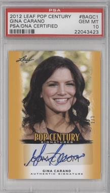 2012 Leaf Pop Century - [Base] - Gold #BA-GC1 - Gina Carano /1 [PSA 10 GEM MT]