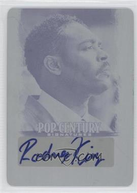2012 Leaf Pop Century - [Base] - Printing Plate Cyan #BA-RK1 - Rodney King /1