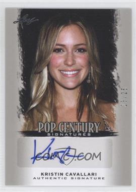 2012 Leaf Pop Century - [Base] - Silver #BA-KC2 - Kristin Cavallari /25