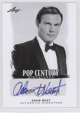 2012 Leaf Pop Century - [Base] #BA-AW1 - Adam West