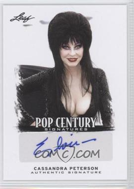 2012 Leaf Pop Century - [Base] #BA-CP1 - Cassandra Peterson