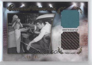 2012 Press Pass Essential Elvis - Essential Materials - Gold Foil #EM-D2 - Green Warmup Suit/Tweed Jacket /199
