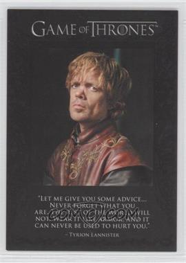 2012 Rittenhouse Game of Thrones Season 1 - The Quotable Game of Thrones #Q2 - Tyrion Lannister