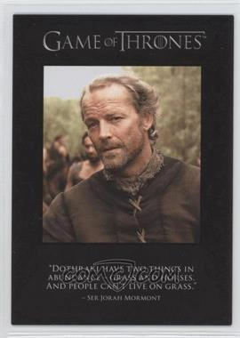 2012 Rittenhouse Game of Thrones Season 1 - The Quotable Game of Thrones #Q3 - Ser Jorah Mormont, Ser Jaime Lannister