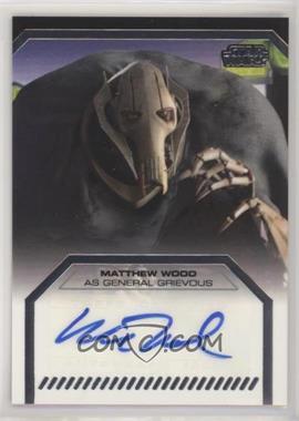 2012 Topps Star Wars Galactic Files - Autographs #MAWO - Matthew Wood as General Grievous
