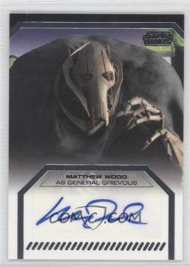2012 Topps Star Wars Galactic Files - Autographs #MAWO - Matthew Wood as General Grievous