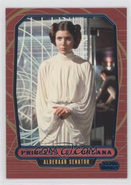 2012 Topps Star Wars Galactic Files - [Base] - Blue #95 - Princess Leia Organa /350