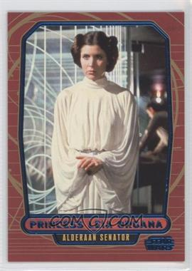 2012 Topps Star Wars Galactic Files - [Base] - Blue #95 - Princess Leia Organa /350