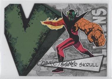2012 Upper Deck Marvel Beginnings Series 3 - Villains Die-Cuts #V-41 - Super Skrull