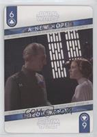 Grand Moff Tarkin, Princess Leia Organa