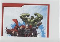 Black Widow, Thor, Hulk
