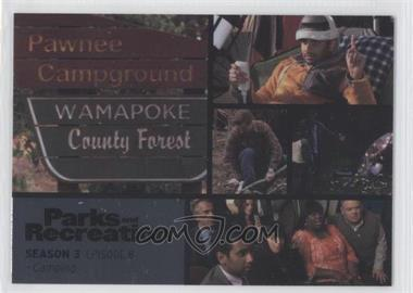 2013 Press Pass Parks and Recreation Seasons 1-4 - [Base] - Foil #38 - Season 3, Episode 8 - Camping