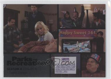 2013 Press Pass Parks and Recreation Seasons 1-4 - [Base] - Foil #62 - Season 4, Episode 16 - Sweet Sixteen