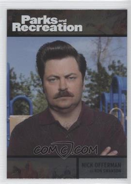 2013 Press Pass Parks and Recreation Seasons 1-4 - [Base] - Foil #72 - Nick Offerman as Ron Swanson