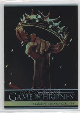 2013 Rittenhouse Game of Thrones Season 2 - [Base] - Foil #87 - Season Two Checklist