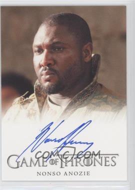 2013 Rittenhouse Game of Thrones Season 2 - Full-Bleed Autographs #NOAN - Nonso Anozie as Xaro Xhoan Daxos