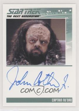 2013 Rittenhouse Star Trek The Next Generation: Heroes & Villains - Autographs #JOCO - John Cothran Jr as Captain Nu'Daq