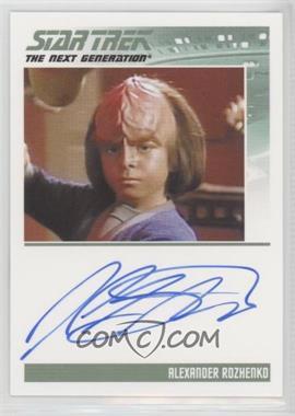 2013 Rittenhouse Star Trek The Next Generation: Heroes & Villains - Autographs #JOST - Jon Steuer as Alexander Rozhenko