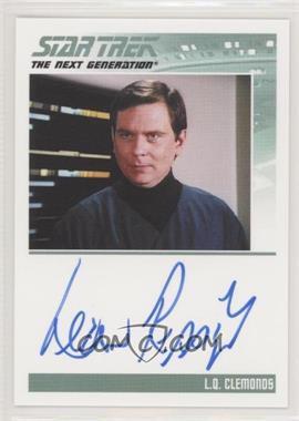 2013 Rittenhouse Star Trek The Next Generation: Heroes & Villains - Autographs #LERI - Leon Rippy as L.Q. Clemonds