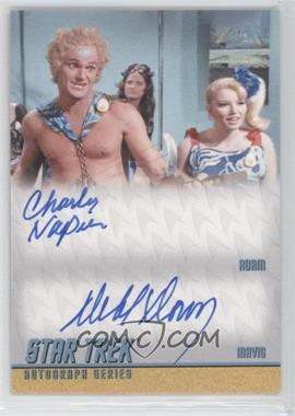 2013 Rittenhouse Star Trek The Original Series: Heroes & Villians - Dual Autographs #DA28 - Charles Napier as Adam, Deborah Downey as Mavig
