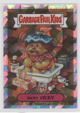 2013 Topps Garbage Pail Kids Chrome - [Base] - Atomic Refractor #21b - Sicky Vicky
