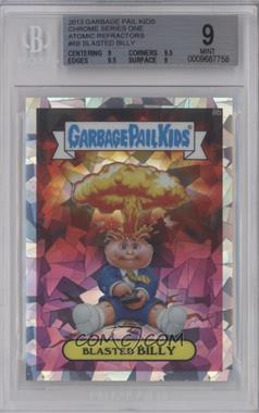 2013 Topps Garbage Pail Kids Chrome - [Base] - Atomic Refractor #8b - Blasted Billy (Checklist) [BGS 9 MINT]