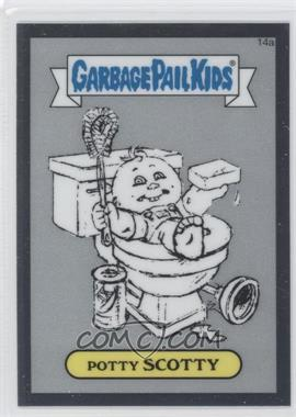 2013 Topps Garbage Pail Kids Chrome - Pencil Art Concept Sketches #14a - Potty Scotty