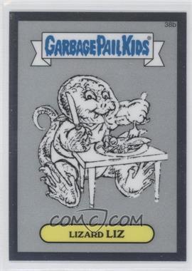 2013 Topps Garbage Pail Kids Chrome - Pencil Art Concept Sketches #38b - Lizard Liz