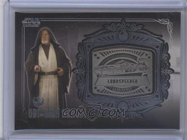 2013 Topps Star Wars Galactic Files Series 2 - Medallion Relics #MD-20 - Obi-Wan Kenobi (Luke's Landspeeder)