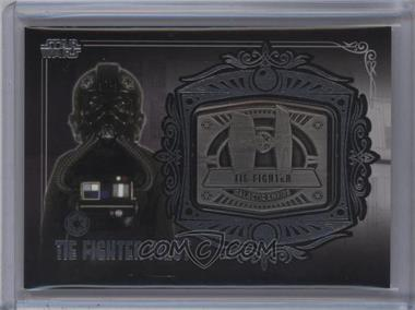 2013 Topps Star Wars Galactic Files Series 2 - Medallion Relics #MD-22 - Tie Fighter Pilot (Tie Fighter)