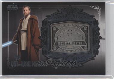 2013 Topps Star Wars Galactic Files Series 2 - Medallion Relics #MD-25 - Obi-Wan Kenobi (Jedi Starfighter)