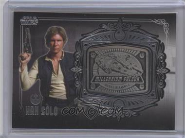 2013 Topps Star Wars Galactic Files Series 2 - Medallion Relics #MD-3 - Han Solo (Millennium Falcon)